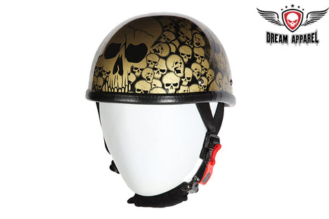 Gold Boneyard Eagle Novelty Helmet with Skulls