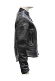 Women's Soft Leather Jacket With Multi Pockets