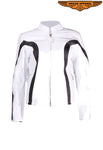 Womens White Jacket With Z/O Lining