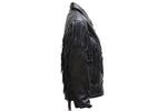 Women's Soft Leather Braided & Fringed Motorcycle Jacket