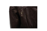 Womens Brown Motorcycle Jacket With Air Vents