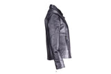 Women's Motorcycle Jacket With Zippered Cuffs