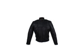 Women's Leather Racer Jacket With One Airvent On The Back