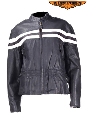 Womens Leather Racer Jacket