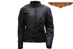Womens Nylon Jacket With Embroidered Design