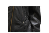 Womens Leather Jacket With Braid