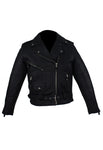 Womens Motorcycle Jacket With Half Belt
