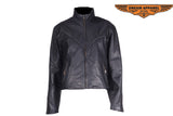 Women  Jacket with Round Collar
