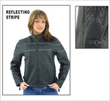 Womens Leather Jacket With Multi Pockets