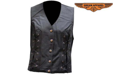 Womens Vest With Laces