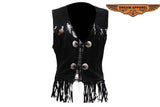 Womens Western Style Leather Vest