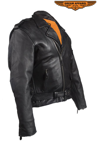 Mens Leather Jacket With Air-Vents