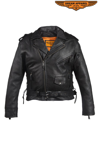 Mens Leather Jacket With Air Vents