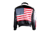 USA Flag Motorcycle Leather Jacket