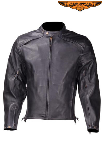 Mens Racer Motorcycle Jacket