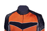 Mens Mesh and Nylon Leather Motorcycle Jacket