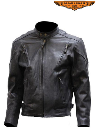 Mens Racer Jacket with Side Zippers