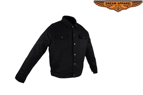 Men's Ultra-Lightweight Black Denim Jacket