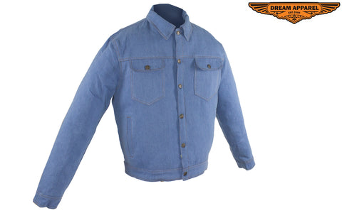 Men's Ultra-Lightweight Blue Denim Jacket