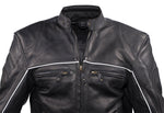 Mens Racer Jacket with Relfective Piping
