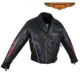 Mens Leather Jacket With Multi Pockets