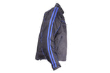 Men's Black Lightweight Textile Jacket W/ Blue Stripes