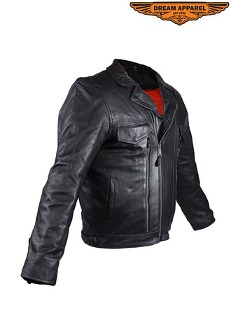 Mens Racer Jacket With Four Vents