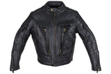 Mens Naked Cowhide Leather Jacket