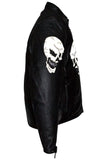 Men's Concealed Carry Jacket with Reflective Skulls