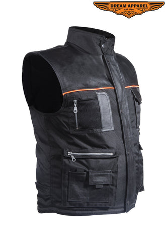 Mens Cargo Vest With Reflector
