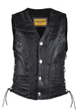Mens Leather Vest With Laces