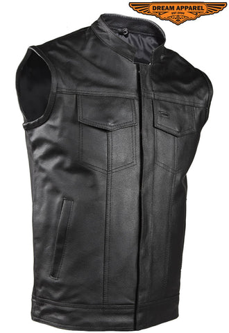 Motorcycle Club Vest With Gun Pocket