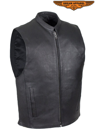 Motorcycle Club Vest with Low Profile Collar