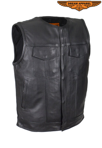 Men's Collarless Gun Pocket Club Vest