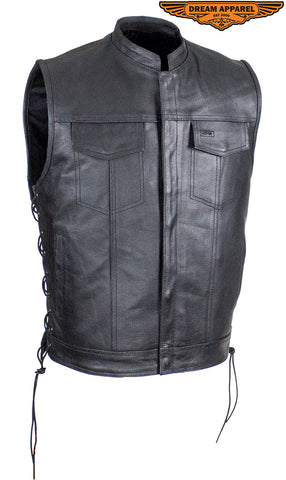 Men's Split Leather Gun Pocket Vest
