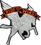 "Pegasus With Tthe Words ""Ride with the Wind"""