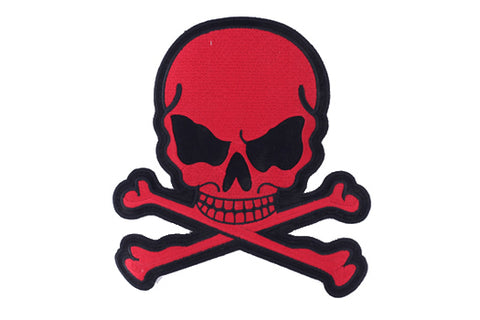 Red Skull and Crossbones Patch