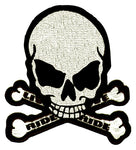 "Skull Crossbones Patch ""Ride to Live, Live to Ride"""