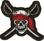 Captains Bandana with Skull and Crossbones Patch