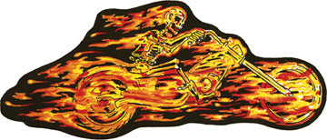 Flaming Skeleton Rider Patch