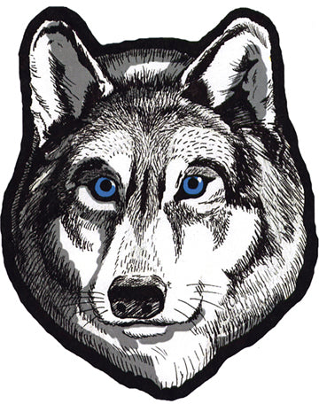 Wolf Head Biker Patch