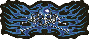 Skeleton Heads with Purple Flames Patch