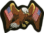 Eagle with 2 American Flags Patch