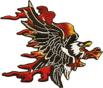 Flaming Eagle Patch