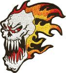 Flaming Skull Patch