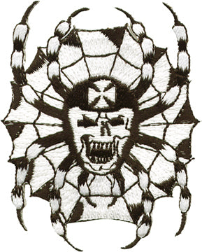Iron Cross Skull on Web Patch