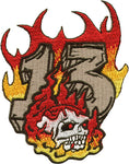Flamed Skull & 13 Patch
