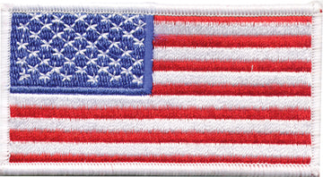 American Flag with White Border Patch