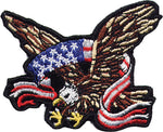 Eagle Wrapped with American Flag Patch
