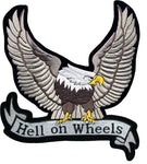"""Hell on Wheels"" Silver Eagle Patch"
